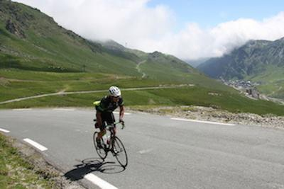 Going up the Tourmalet